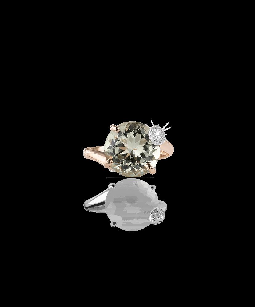 Silvia Kelly Lake Como - Lecco jewelry - Italian jewelry - London Prasiolite ring