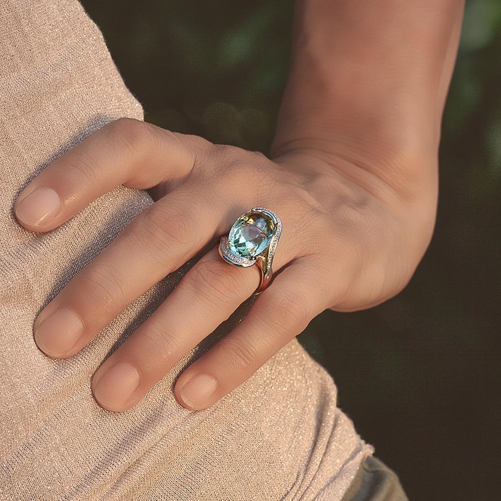 Silvia Kelly - Lecco jewelry - Italian jewelry - Giorgia Prasiolite ring