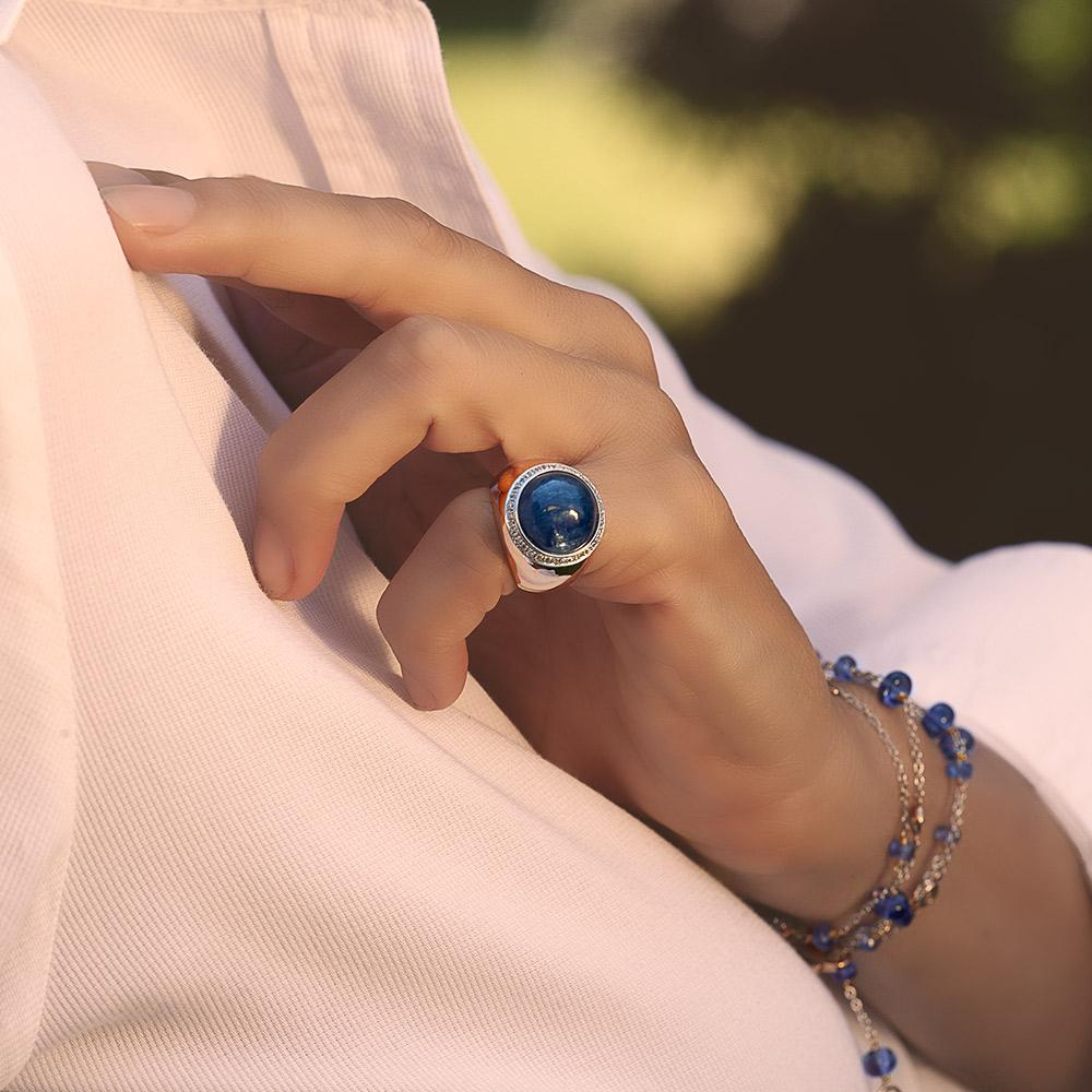 Silvia Kelly - Lecco jewelry - Italian jewelry - Gyselle Cianite ring