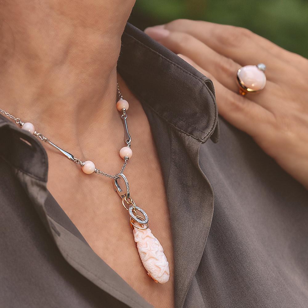 Silvia Kelly - Lecco jewelry - Italian jewelry - Lea Corallo Rosa ring