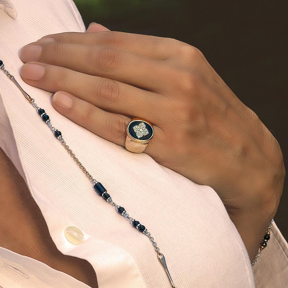 Silvia Kelly - Lecco jewelry - Italian jewelry - Quadrifoglio ring