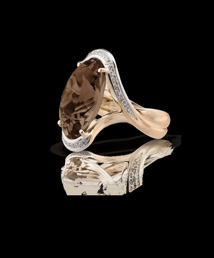 Silvia Kelly Lake Como - Lecco jewelry - Italian jewelry - Giorgia fumè quartzr ing