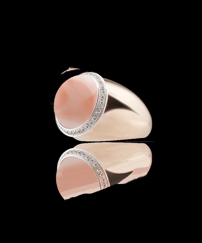 Silvia Kelly Lake Como - Lecco jewelry - Italian jewelry - Gyselle coral pink ring