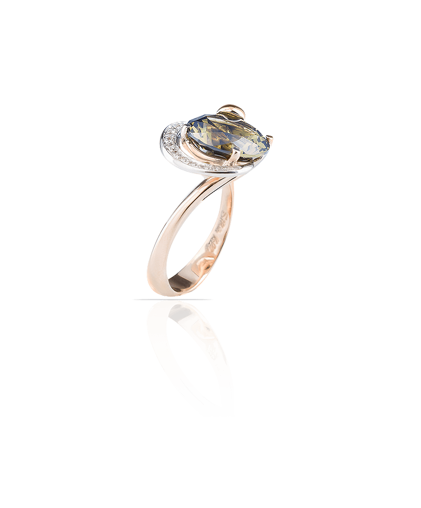 Silvia Kelly Lake Como - Lecco jewelry - Italian jewelry - Irina Prasiolite ring