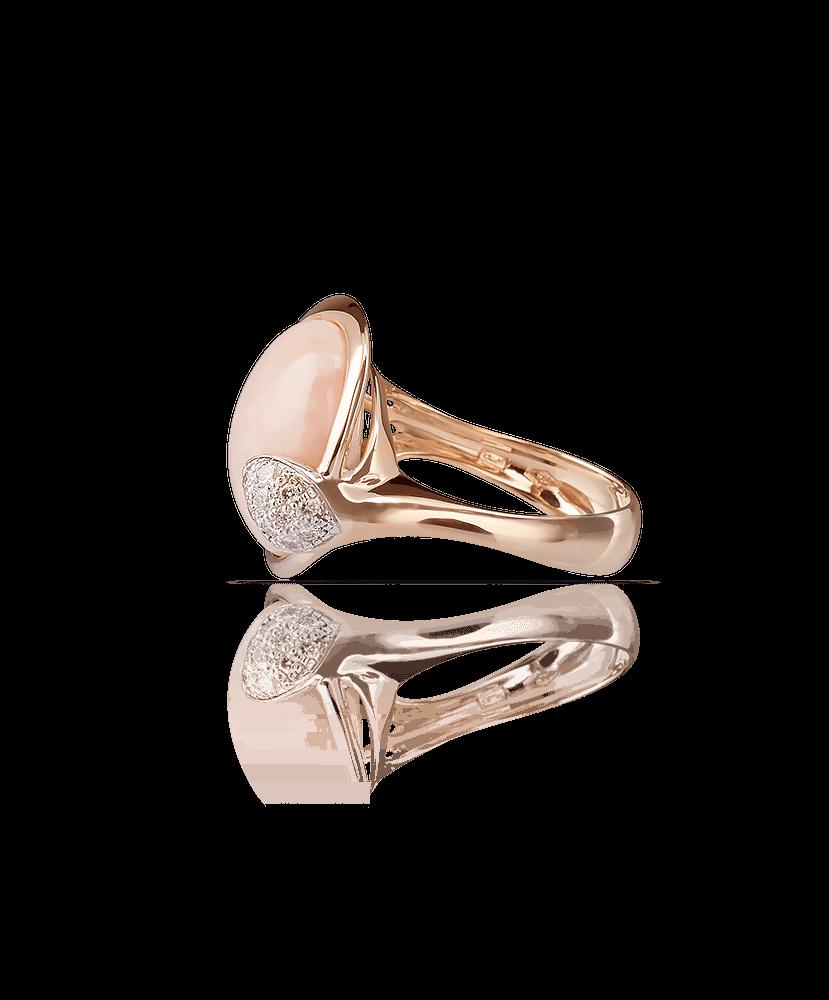 Silvia Kelly Lake Como - Lecco jewelry - Italian jewelry - Lea Corallo Rosa ring