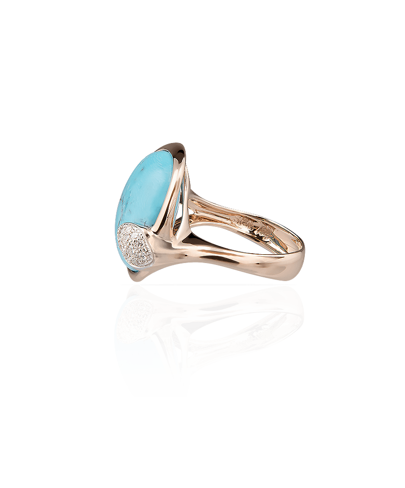 Silvia Kelly Lake Como - Lecco jewelry - Italian jewelry - Lea Turchese ring