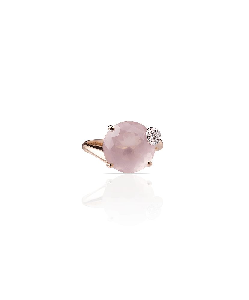 Silvia Kelly Lake Como - Lecco jewelry - Italian jewelry - London Rose Quartz ring