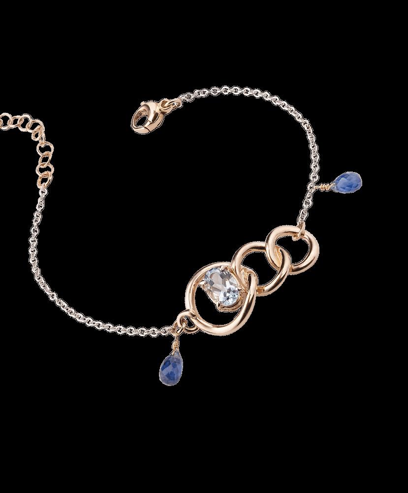 Silvia Kelly - Gioielleria Lecco - porta gioielli - Bracciale Raffinato Aquamarine