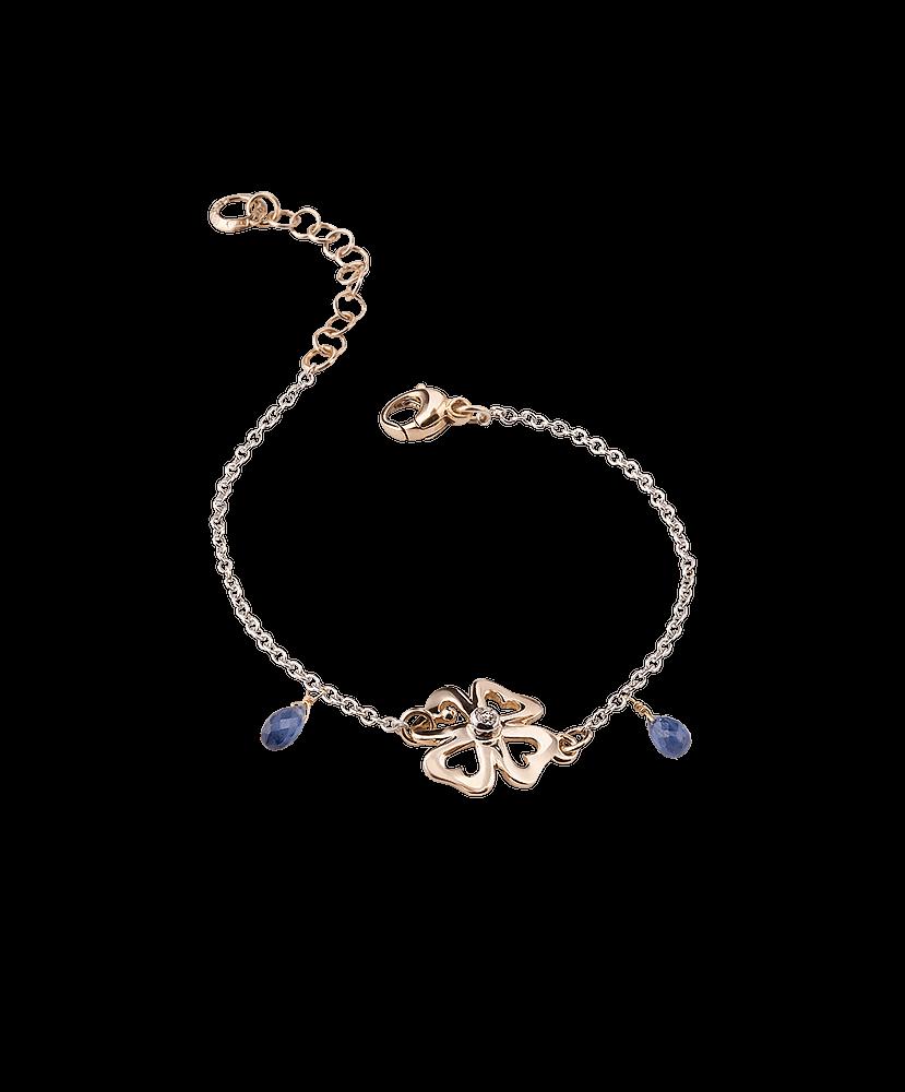 Silvia Kelly Lake Como - Lecco jewelry - Italian jewelry - Raffinato Quadrifoglio Bracelet