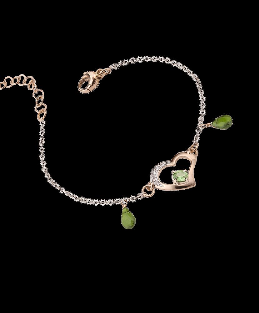 Silvia Kelly Lake Como - Lecco jewelry - Italian jewelry - Raffinato Green Tourmalines Bracelet