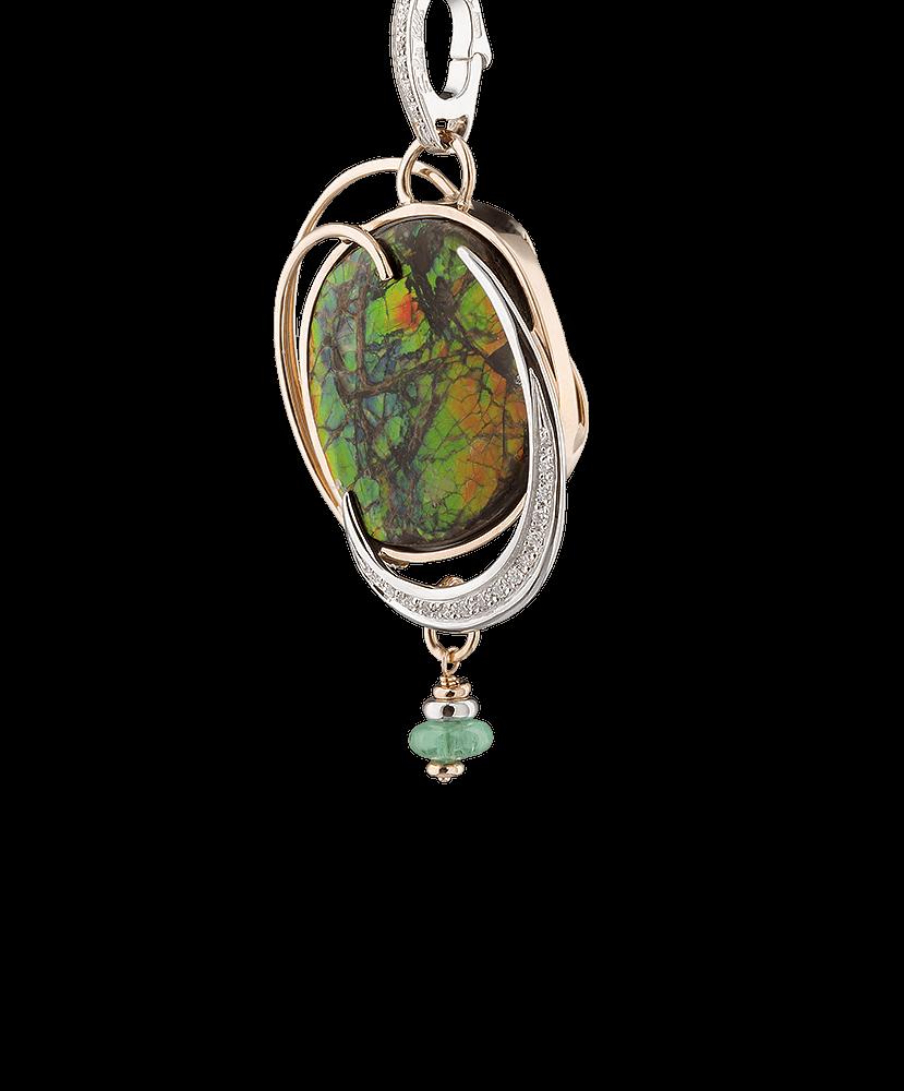 Silvia Kelly - Lecco jewelry - Italian jewelry - Ammolite Pendant