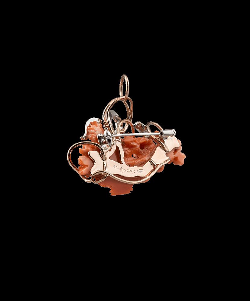 Silvia Kelly - Lecco jewelry - Italian jewelry - Brooch Gardenia Pendant