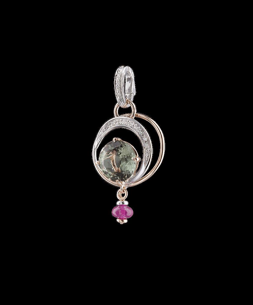 Silvia Kelly - Lecco jewelry - Italian jewelry - Irina Prasiolite Pendant