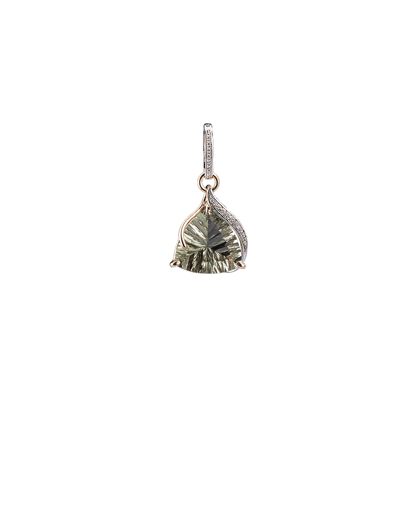 Silvia Kelly - Lecco jewelry - Italian jewelry - Odessa Prasiolite Pendant