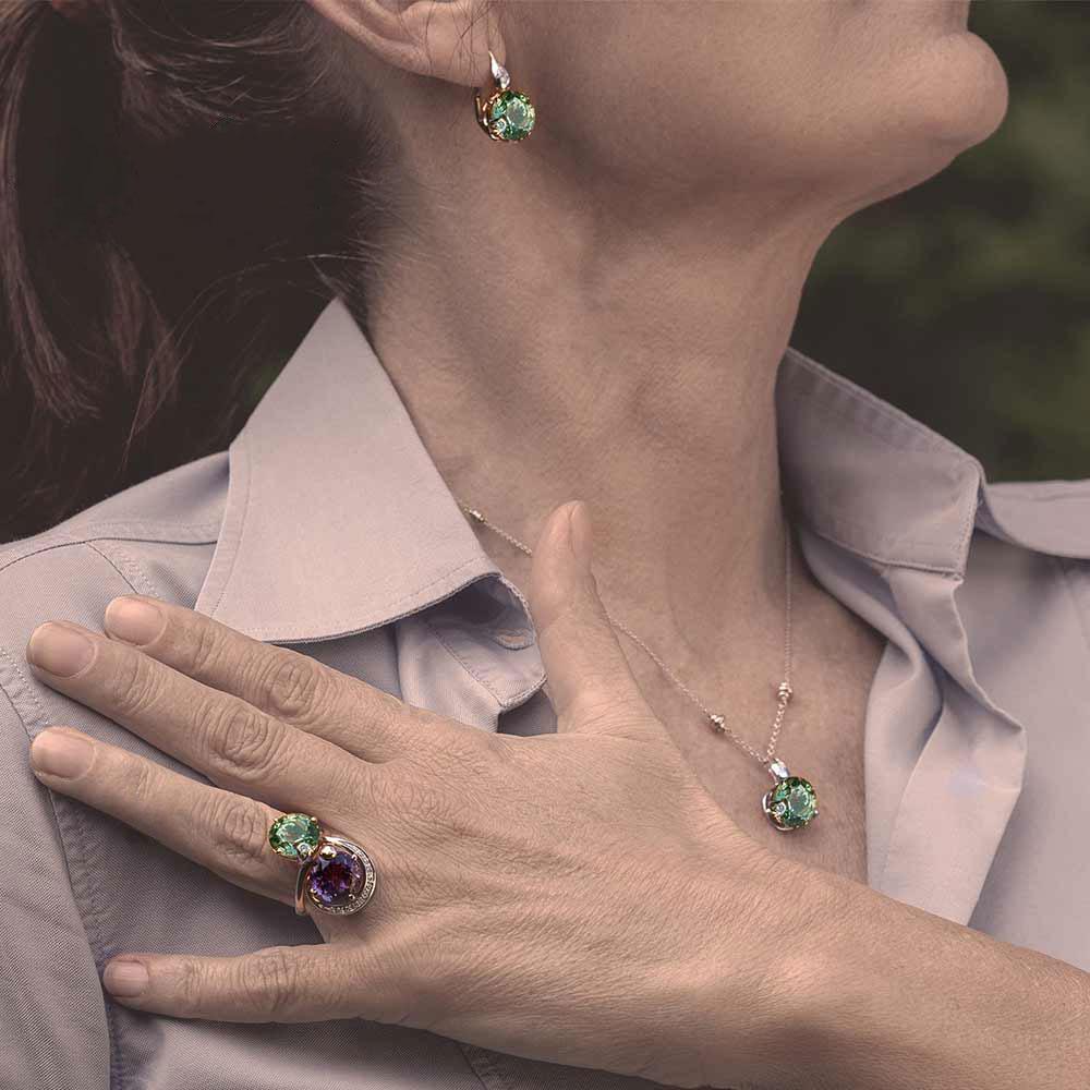 Silvia Kelly - Lecco jewelry - Italian jewelry - London Prasiolite Choker