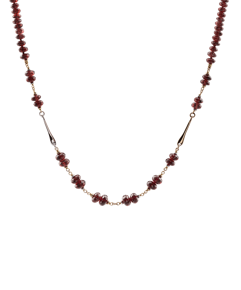 Silvia Kelly - Lecco jewelry - Italian jewelry - Garnet Choker