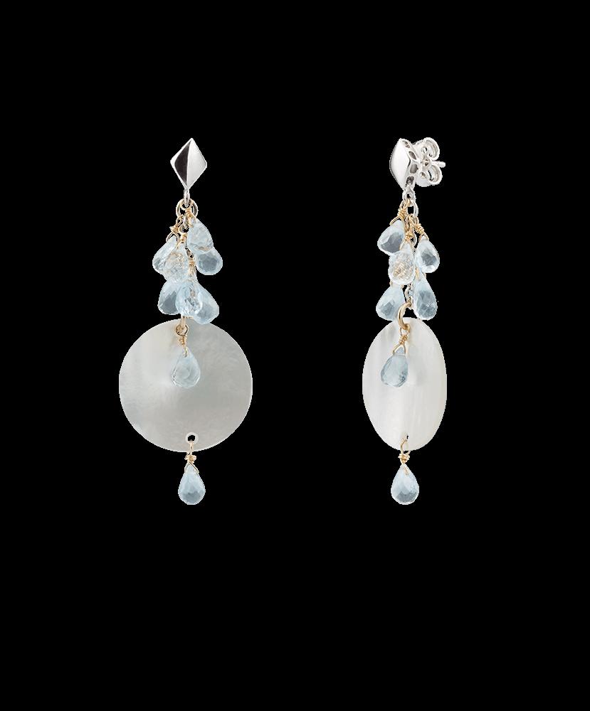 Silvia Kelly - Lecco jewelry - Italian jewelry - Mia Acqua Earrings