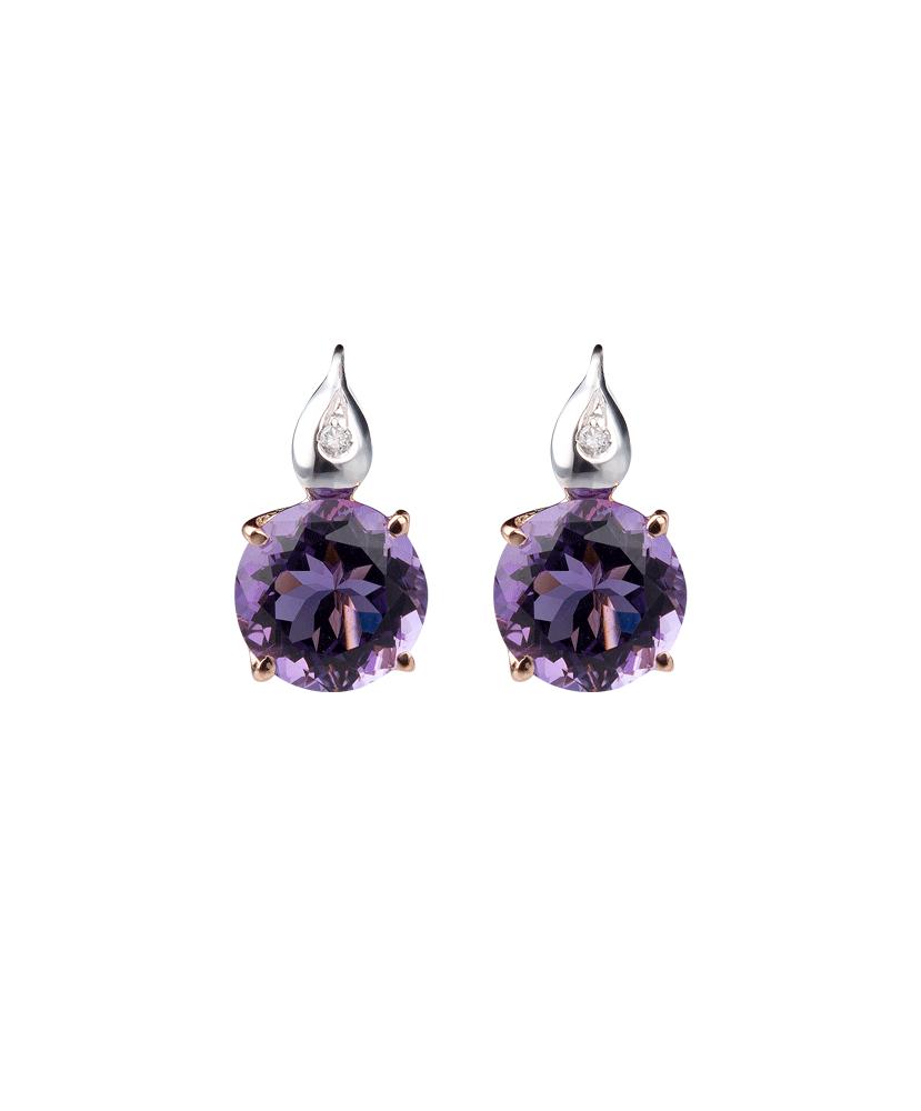 Silvia Kelly - Lecco jewelry - Italian jewelry - London Amethyst Earrings