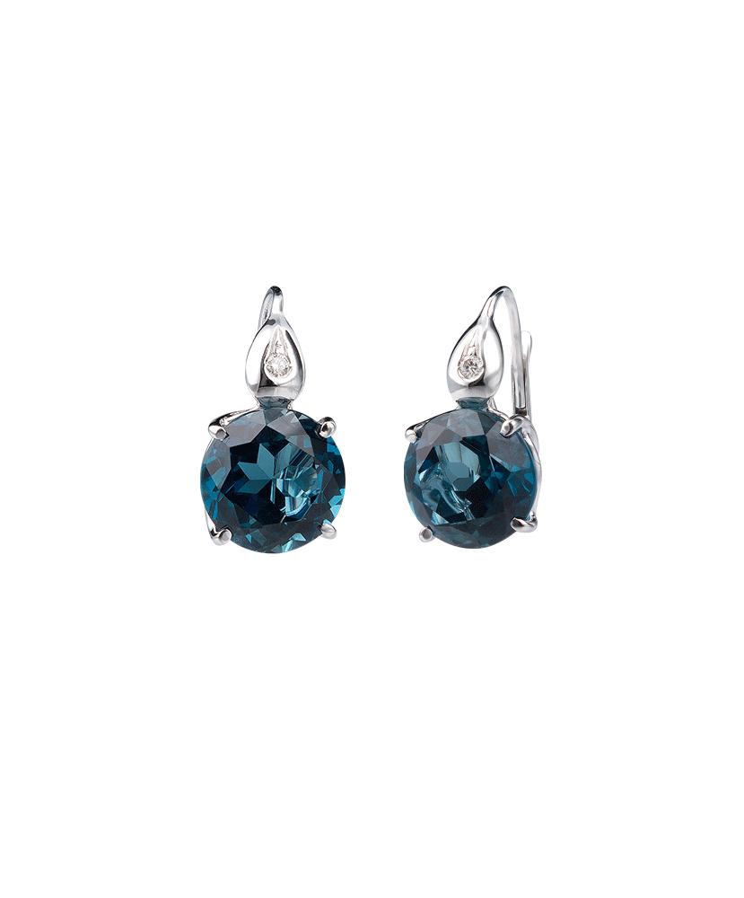 Silvia Kelly - Lecco jewelry - Italian jewelry - London Blue Earrings