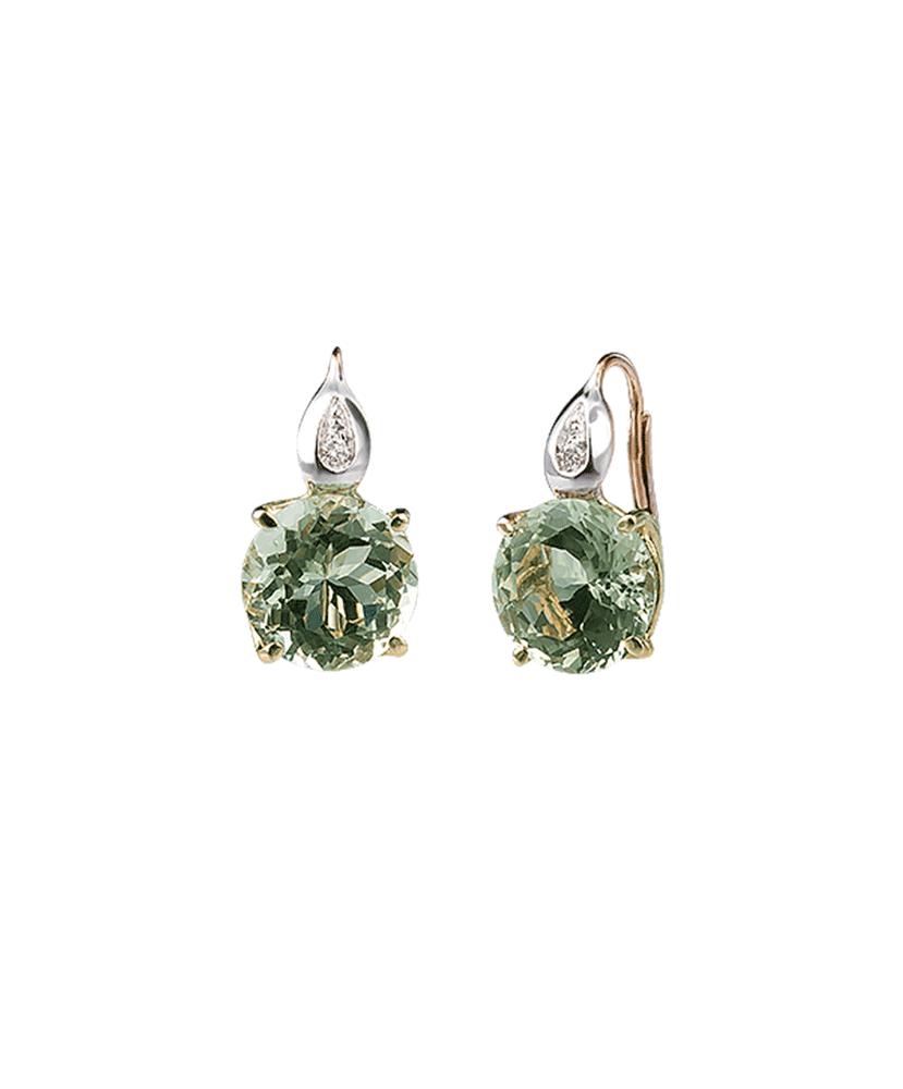 Silvia Kelly - Lecco jewelry - Italian jewelry - London Prasiolite Earrings