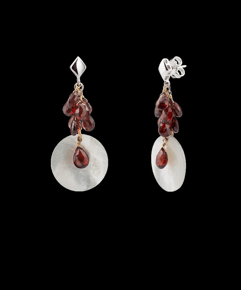 Silvia Kelly - Lecco jewelry - Italian jewelry - Mia Garnet Earrings