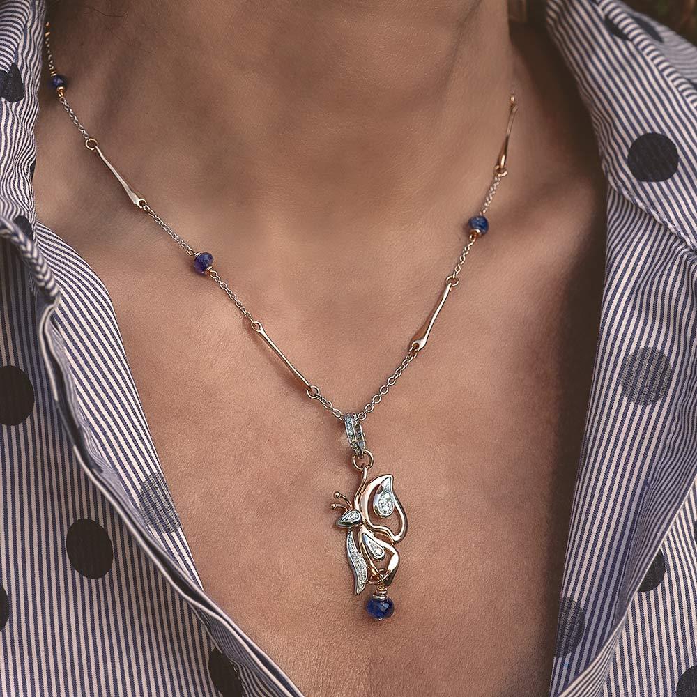 Silvia Kelly - Lecco jewelry - Italian jewelry - Tara Pendant - Gioia Choker