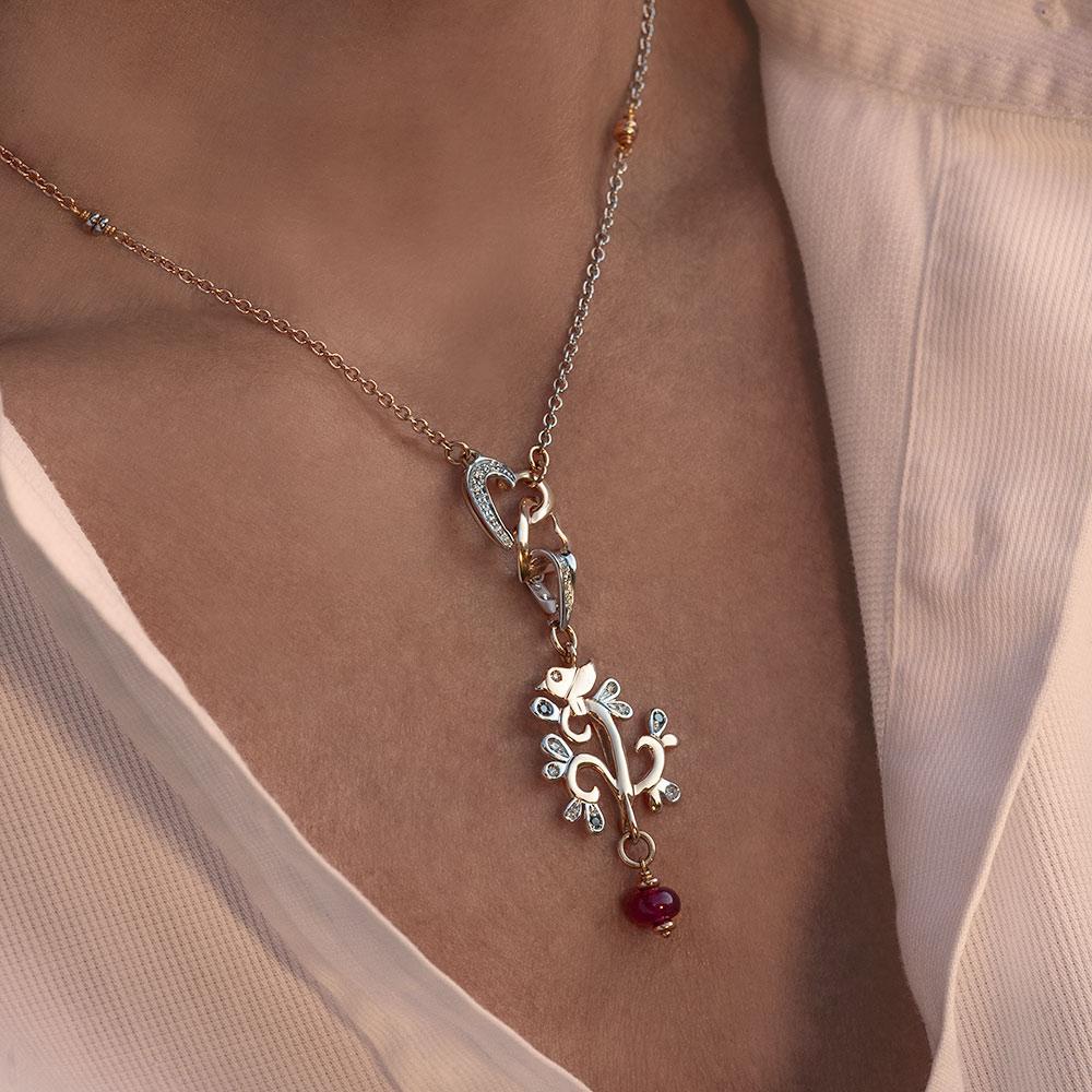 Silvia Kelly - Lecco jewelry - Italian jewelry - Albero della Vita Small Pendant, Cuori Choker