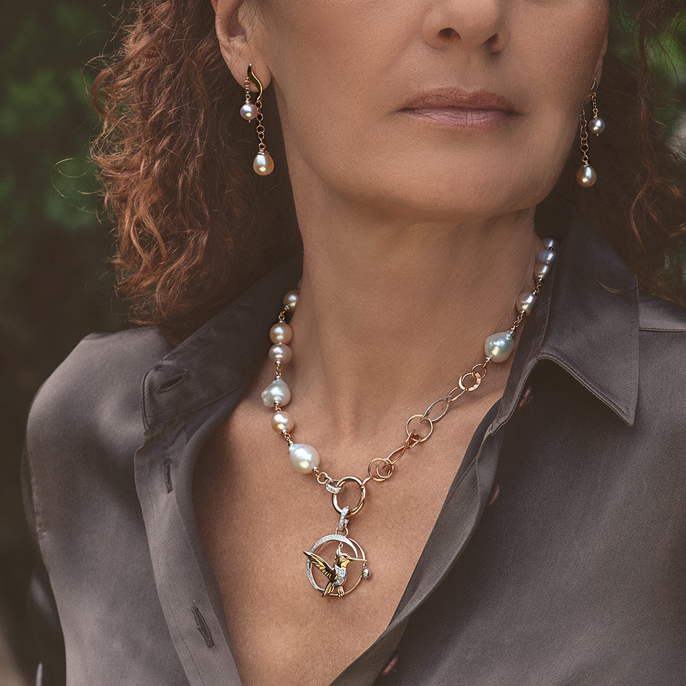 Silvia Kelly - Lecco jewelry - Italian jewelry - Colibri Pendant
