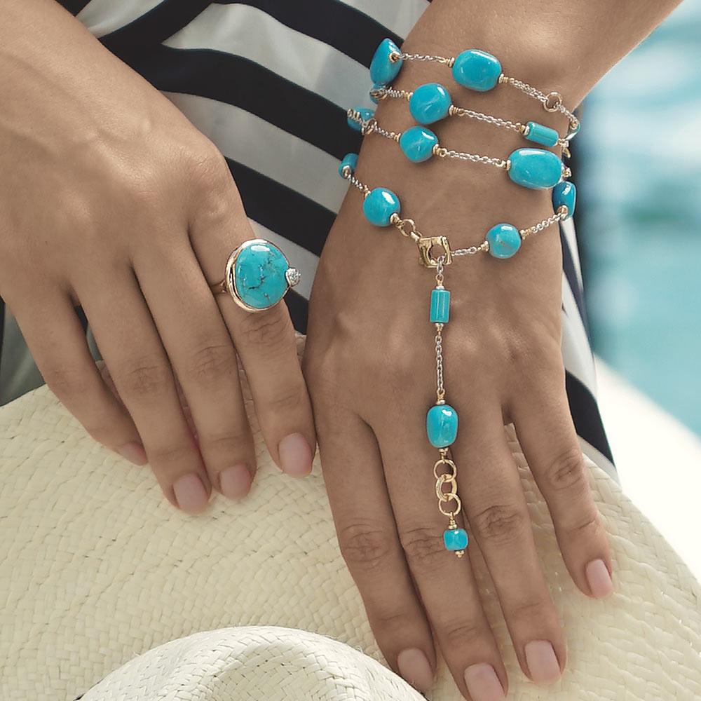 Silvia Kelly - Lecco jewelry - Italian jewelry - Lea Turchese ring