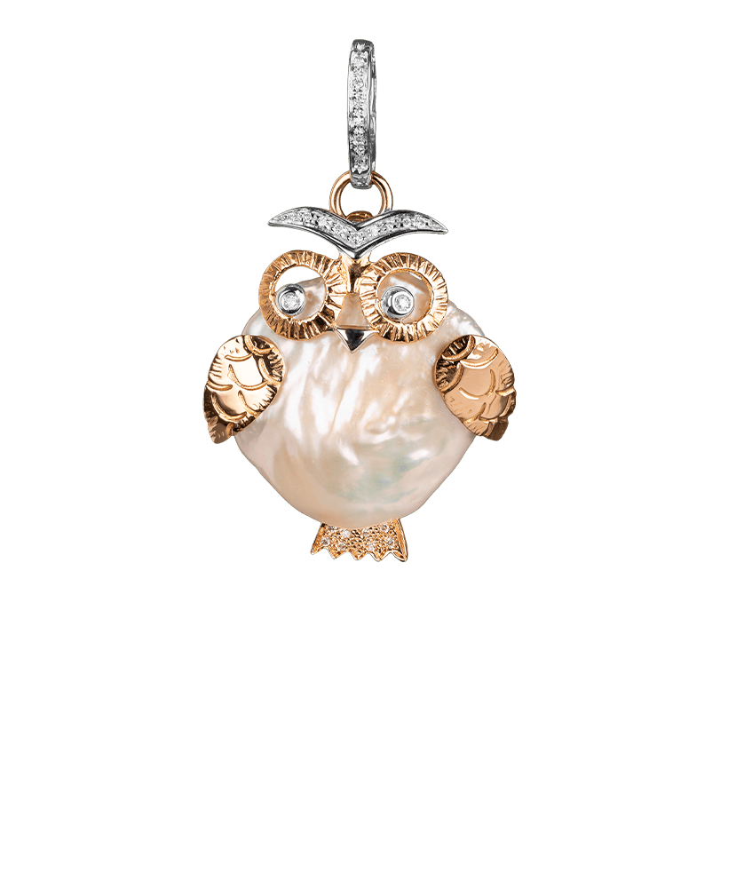 Silvia Kelly Lake Como - Lecco jewelry - Italian jewelry - Gufo Pendant